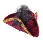 Red Ladies Pirate Tricorn Hat