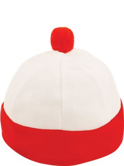 Child Red & White Striped Hat