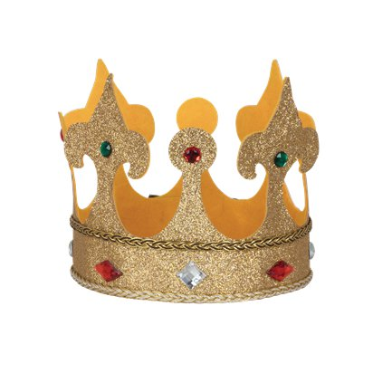 Large Fabric King Crown - Adults Fancy Dress Costume Accessories front