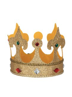 Large Fabric King Crown