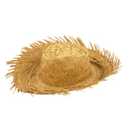 Straw Beach Hat - Hawaiian Summer Party Hats & Accessories front