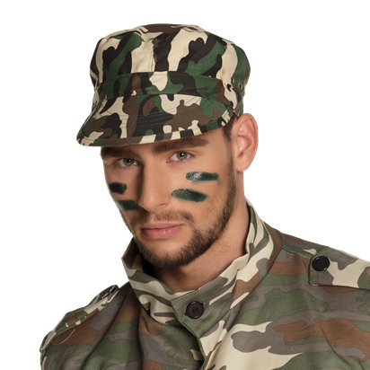 Army Hat - Adults Military Fancy Dress Costume Accessories left