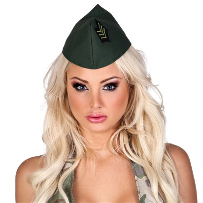 Army Camouflage Hat - Adults Military Fancy Dress Costume Accessories left