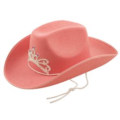Fancy Dress Accessories Pink Sequin Cowgirl Hat