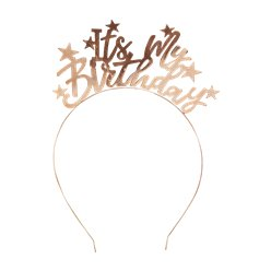 Gold 'It's My Birthday' Headband