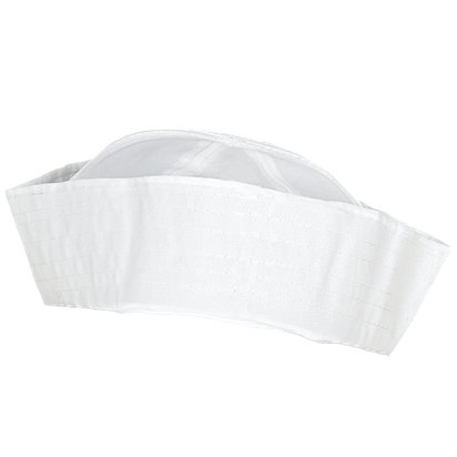 White Sailor Hat - Sailor Fancy Dress Accessory  - Adult front