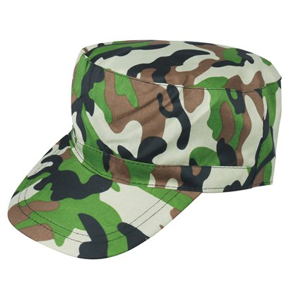 Camouflage Hat - Army Fancy Dress Accessories front