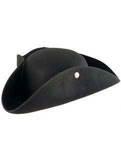 Black Felt Pirate Tricorn