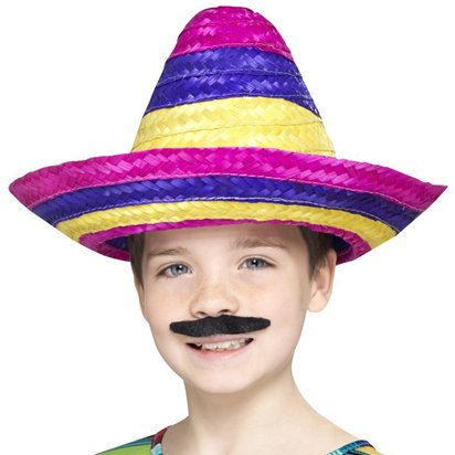 Child's Mexican Hat - Kids Mexican Sombrero Fancy Dress Accessories front