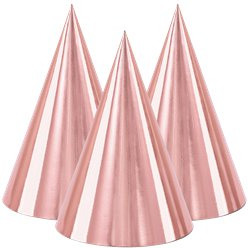 Rose Gold Metallic Cone Hats