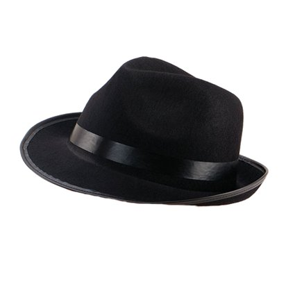 Blues Brother's Fedora Hat - Trilby Hats - Men's Blues Brother Fancy Dresss Costume Accessories front