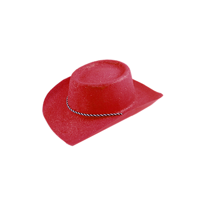 red glitter cowboy hat party delights