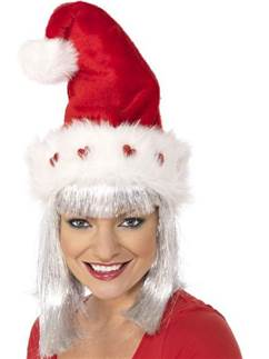 Deluxe Light Up Santa Hat