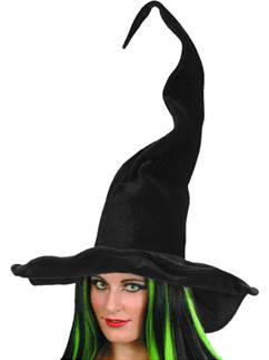 Witches Tall & Twisty Hat - 62cm tall