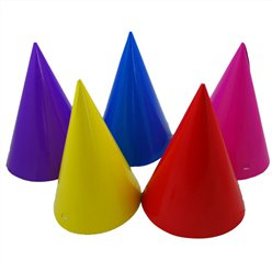 Party Cone Hats - Assorted Colours