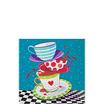 Mad Hatters Tea Party Paper Beverage Napkins - 25cm