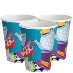 Mad Hatters Tea Party Paper Cups - 270ml