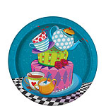 Mad Hatters Tea Party Paper Plates - 17cm
