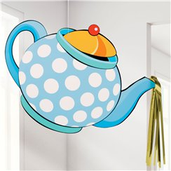Mad Hatters Tea Party Tea Pot Hanging Decoration - 35cm