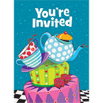 Mad Hatters Tea Party Invitations