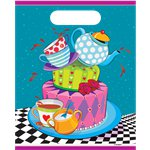 Mad Hatters Tea Party Plastic Party Bags