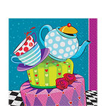 Mad Hatters Tea Party Paper Napkins - 33cm