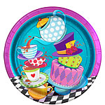 Mad Hatters Tea Party Paper Plates - 22cm