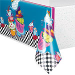 Mad Hatters Tea Party Tablecover - 1.37m x 2.13m