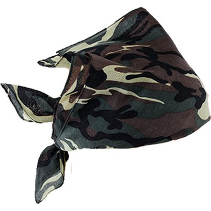 Army Camouflage Bandana - Fancy Dress Accessories front