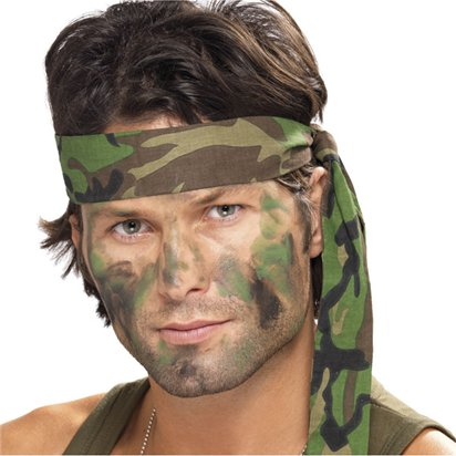 Army Camouflage Headscarf - Fancy Dress Accessories front