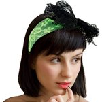 80s Green Lace Headband