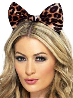 Cheetah Print Bow Ears