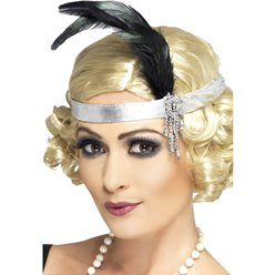 Charleston Flapper Silver Headband