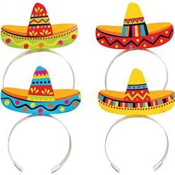 Sombrero Headbands - 8pk