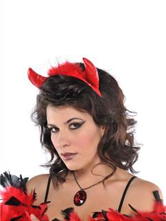 Fluffy Devil Horns Headband