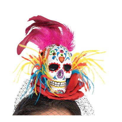 Sugar Skull Couture Headband - Women's Halloween Day of the Dead Headband pla