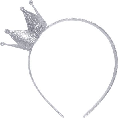 Silver Crown Headband - Children's Christmas Accessory - Kids front