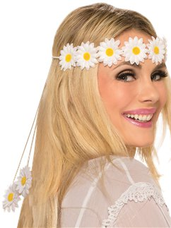 Hippie Daisy Flower Headband