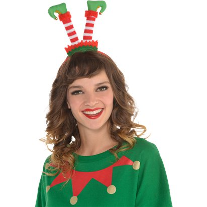 Flipped Elf Headband - Christmas Hats - One Size front