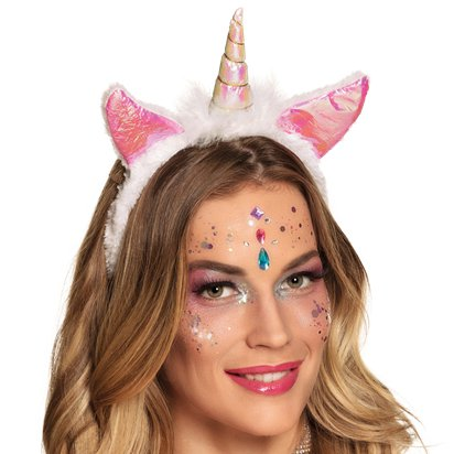 Pink Unicorn Headband - Fancy Dress Headpieces & Accessories - Festival Headbands front