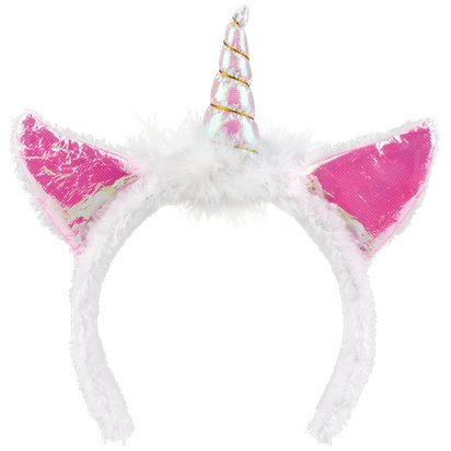 Pink Unicorn Headband - Fancy Dress Headpieces & Accessories - Festival Headbands left