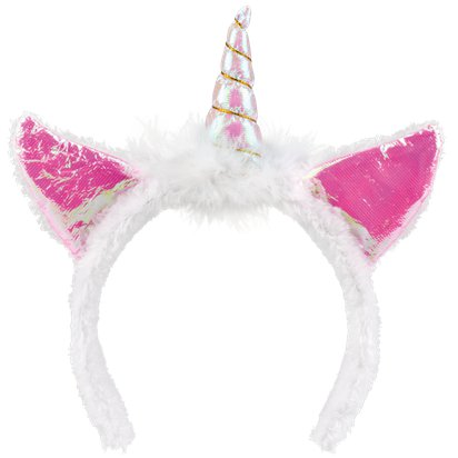 Pink Unicorn Headband - Fancy Dress Headpieces & Accessories - Festival Headbands pla
