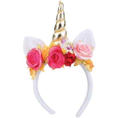 Rose Unicorn Headband - Fancy Dress Headpieces & Accessories - Festival Headbands pla