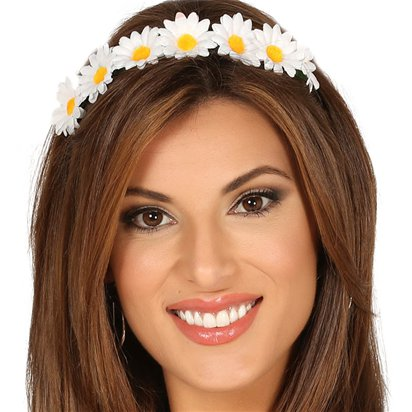 Daisy Festival Headband - Summer Party Hats & Accessories - Festival Headbands front