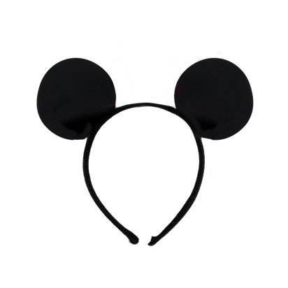 Mouse Ears Headband - Mickey & Minnie Mouse Headband & Fancy Dress Costume Accessories front
