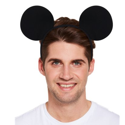 Mouse Ears Headband - Mickey & Minnie Mouse Headband & Fancy Dress Costume Accessories left