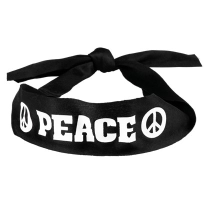 Hippie Peace Headband - Mens 60s Fancy Dress Accessories front