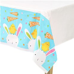 Hello Bunny Plastic Tablecover - 1.3x2.6m