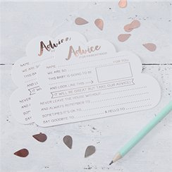 Hello World Rose Gold Foil Advice Cards