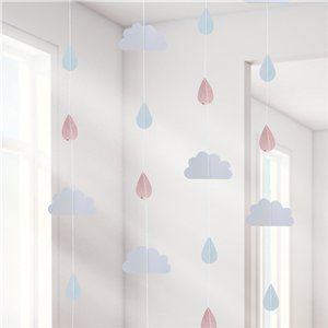 Hello World Rose Gold Raindrop Hanging Decoration - 2m